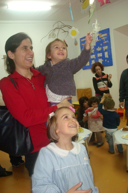 Na festa de Natal da escola