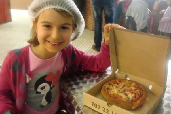 A pizza feita pela Rita Matilde!