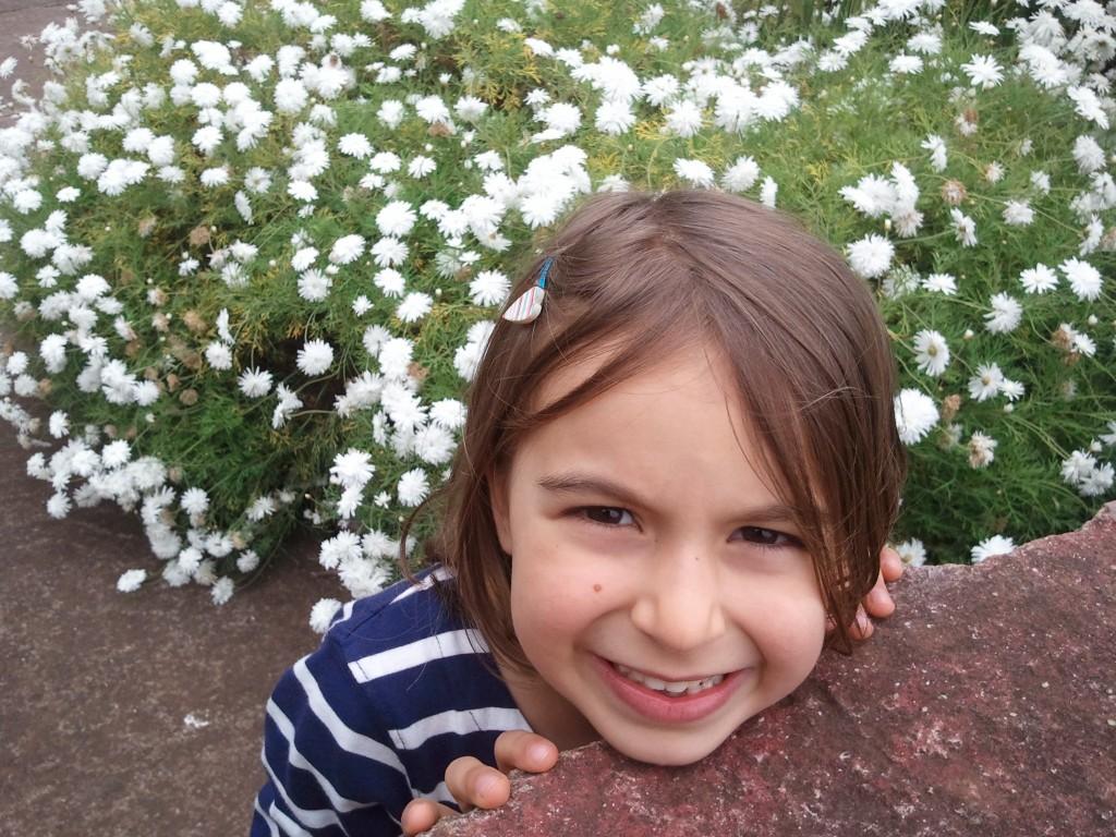 Rita e as flores brancas